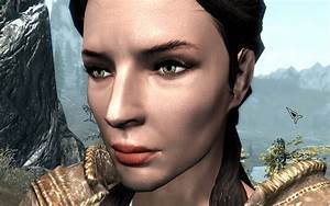 Natural Female Face Skin  Normal Map  At Skyrim Special