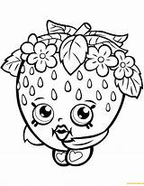 Strawberry Shopkin Pages Kiss Coloring Season Dolls Printable Shopkins Toys sketch template