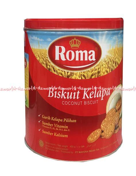 jual roma biskuit kelapa coconut biscuit 450gr biskuit kue roma kelapa roma kaleng di lapak