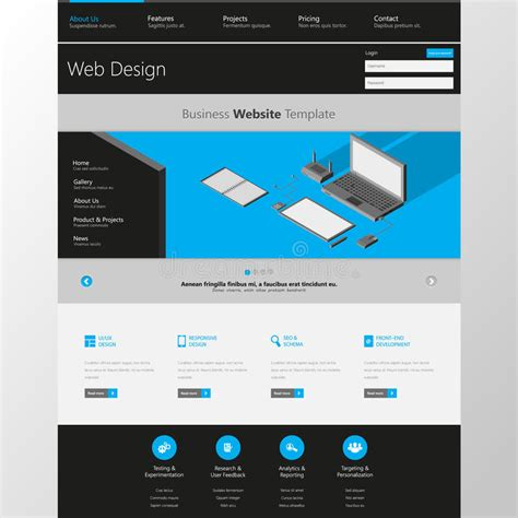 modern clean one page website design template all in one for website design that includes