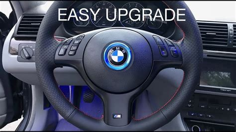 bmw   sport steering wheel install youtube