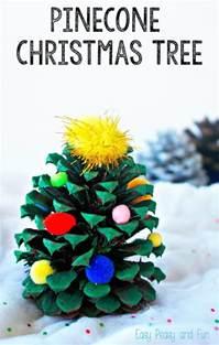 pinecone tree decoration easy peasy and