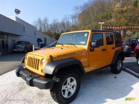 jeep yellow 2012 dozer yellow jeep wrangler unlimited rubicon 4x4