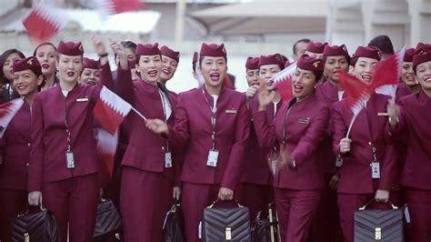 cabin crew qatar airways youtube