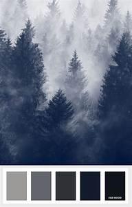 Grey Mood Board - Dark winter Colours that inspire