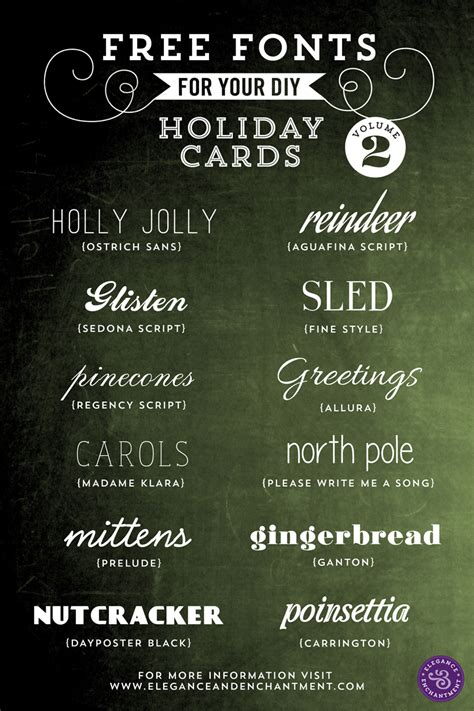 free fonts for diy holiday cards volume 2