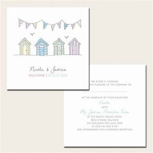 bunting beach huts wedding invitations With wedding invitations beach hut