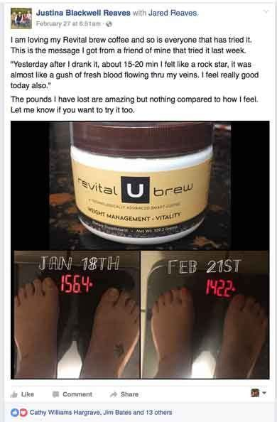 Revital u brew is a new science created to help lose weight without having to make radical diet and exercise changes. Revital U   Blended coffee drinks, Blended drinks, Blended coffee
