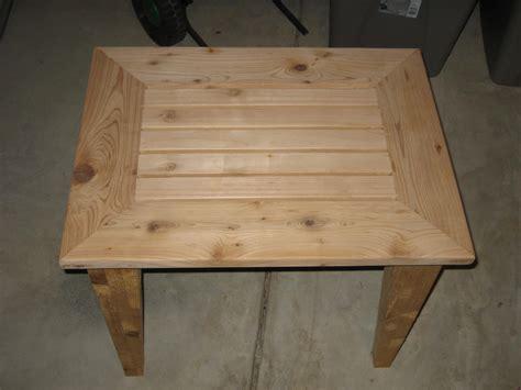 woodwork cedar outdoor side table plans pdf plans