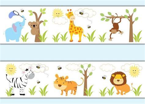 jungle animals wallpaper border decals baby boy nursery