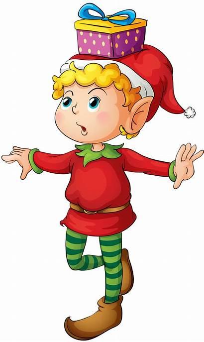 Elves Christmas Elf Clipart Working Cartoon Buddy