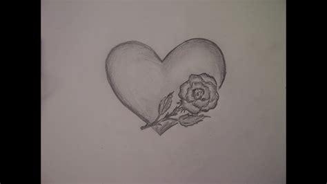 malt zeichnet man ganz einfach ein herz und eine rose