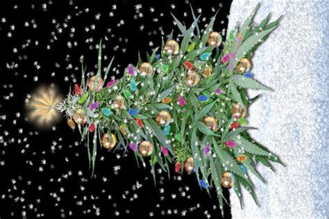 cannabis xmas tree 2016 fabric camomoto spoonflower