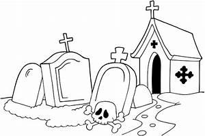 Dessin D Halloween Facile : coloriage d 39 halloween un cimeti re coloriages ~ Dallasstarsshop.com Idées de Décoration