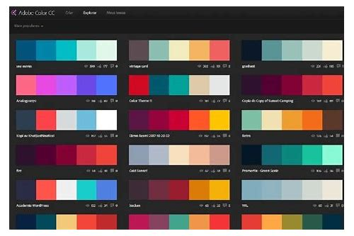 como baixar paleta de cores no illustrator
