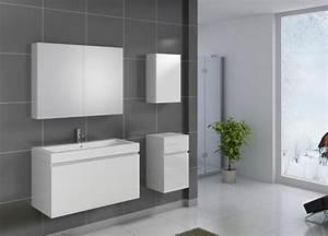 Badezimmermöbel Weiß Hochglanz : sam badezimmerm bel parma 4tlg wei hochglanz 100 cm auf lager ~ Frokenaadalensverden.com Haus und Dekorationen