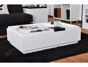 Table Basse Blanche Pas Cher : table basse ub design brooklyn blanche rectangulaire pas cher ~ Teatrodelosmanantiales.com Idées de Décoration