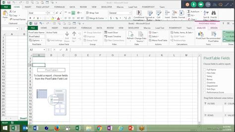 pivot table in excel 2016 pivot table in excel 2016 in hindi advanced excel