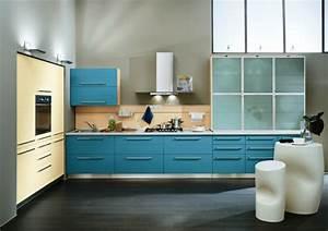 Moderne Farben 2015 : moderne farben in der modernen k che gelb blau beige ~ A.2002-acura-tl-radio.info Haus und Dekorationen