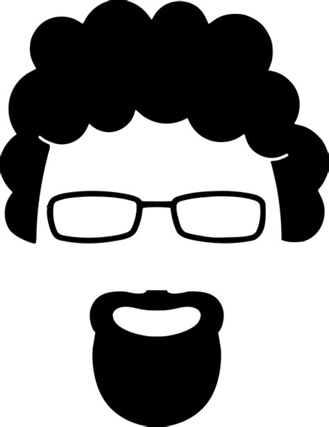 beard curly face  vector graphic  pixabay