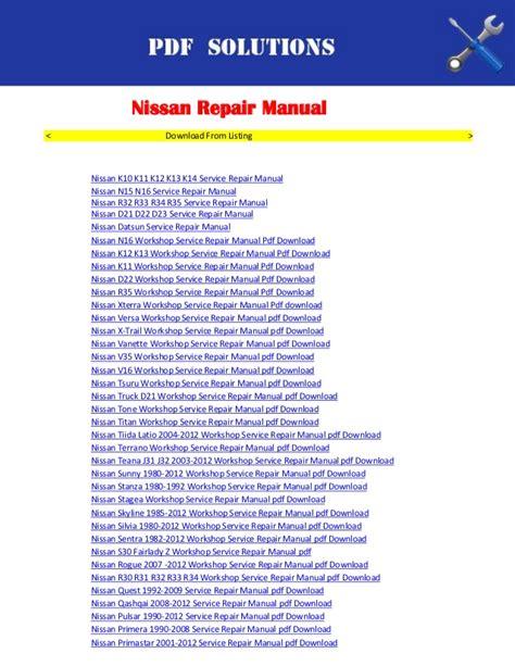auto repair manual free download 2012 nissan nv3500 lane departure warning repair manuals nissan pdf download
