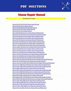 Repair Manuals Nissan Pdf Download