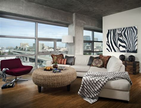 Zebra Themed Living Room Ideas by Dramatic Zebra Living Room Decoration Ideas