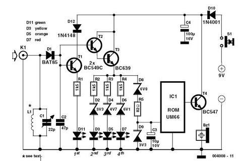mhz simple rf detector circuit audio amplifier