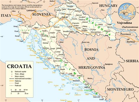 Kroatien Karte Deutsch