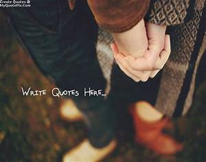 Write Quote on Holding Hand Couple Love Forever Picture