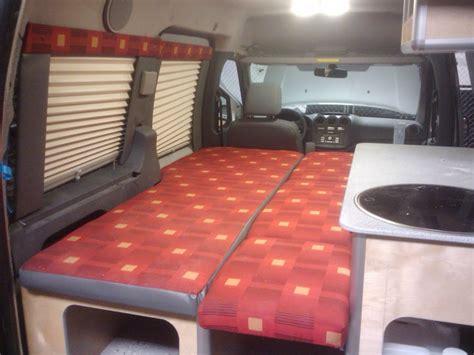 small van camper conversions build  green rv