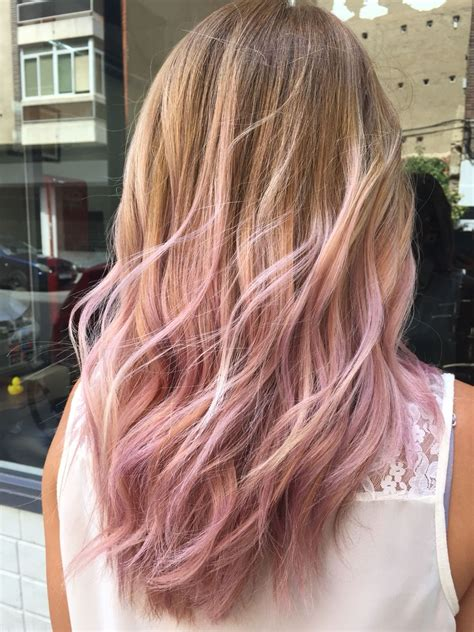 Pastel Pink By The Room Haircolor Ombré Balayage
