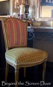 Reupholstered, Vanity, Chair