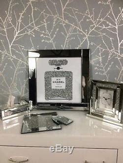 sparkly diamond crystal chanel   bottle mirrored cm