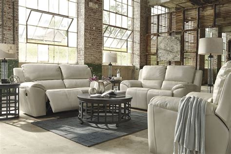 valeton cream reclining living room set  ashley