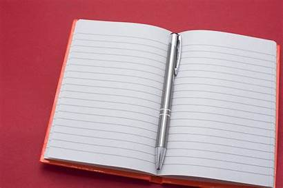 Notebook Blank Pen Opened Lined Freeimageslive Log