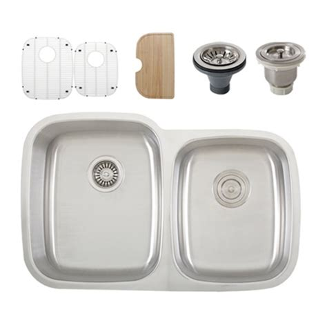 Ticor S305 Undermount Stainless Steel Doublebowl Kitchen