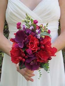 Red Rose & Purple Orchid Wedding Bouquet...SALE PRICED by ...