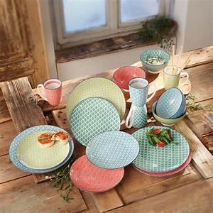 Keramik Geschirr Mediterran : keramikgeschirr lebensfreude 16tlg ~ Michelbontemps.com Haus und Dekorationen