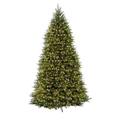 national tree company 12 ft pre lit dunhill fir hinged