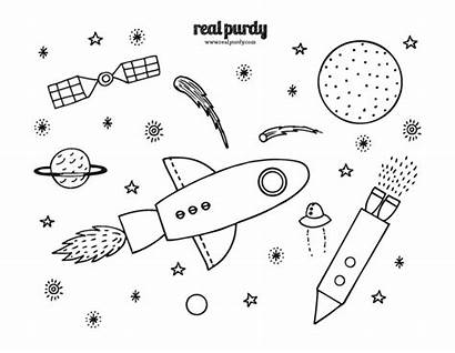 Space Coloring Pages Outer Sheets Alien Printable