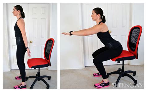 leg exercises you can do from your office chair
