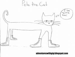 free pete the cat tennis shoe coloring pages With pete the cat shoe template