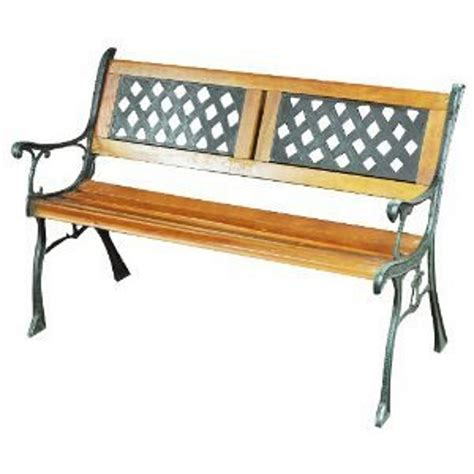 Wooden Decorative Bench by Kingfisher Garden Bench Traditional Wooden Decorative