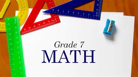 Grade 7 Math Grandparentscom