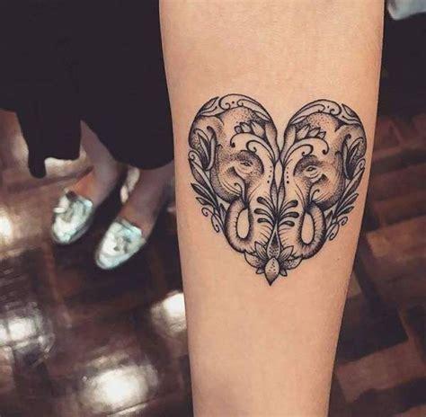 Tatouage De Femme  Tatouage Éléphant Noir Et Gris Sur
