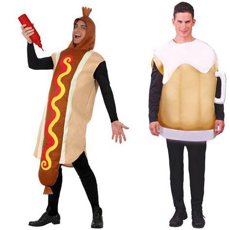 couple hot dog costume d 233 guisements hot dog et chope bi 232 re costumes pour