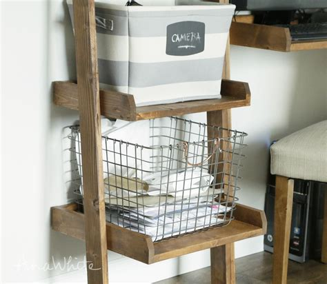 Ladder Bookcase Plans by White Leaning Ladder Wall Bookshelf Diy Projects