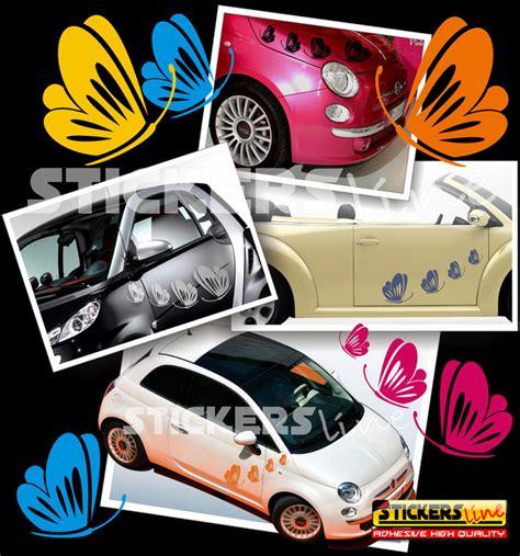 adesivi auto fiori kit adesivi farfalle mod 3 smart fiat 500 fiori auto