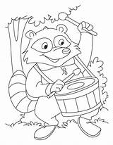 Raccoon Coloring Pages Animals Animal Mario Template sketch template